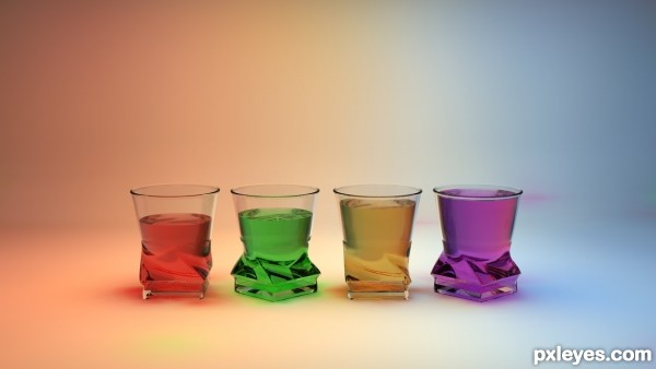 Shot Glasses 3D