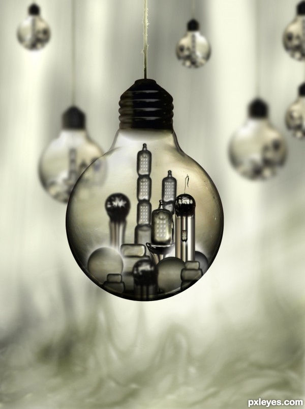 The Light Bulb City of Kandor photoshop picture)