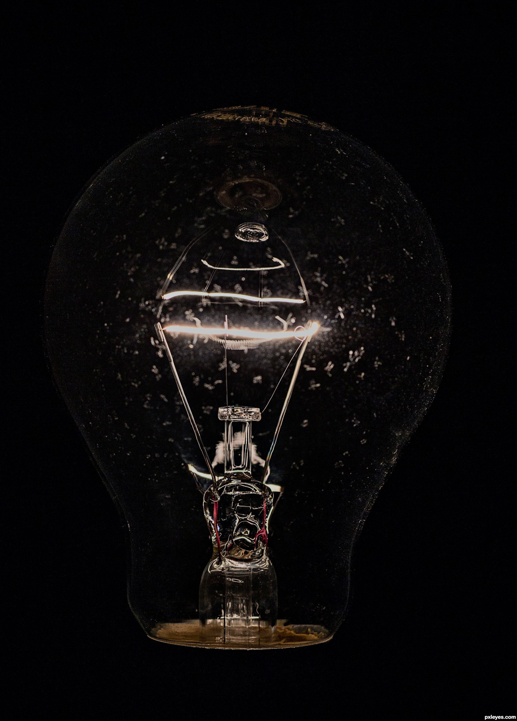 Dark room with light bulb - Dark Room With Light Bulb