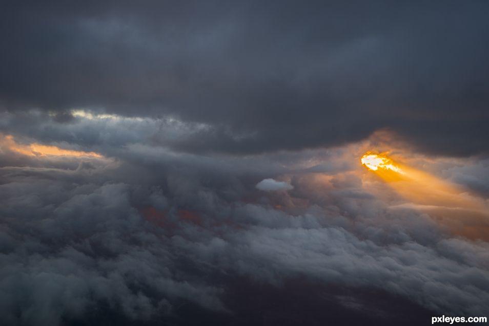 the sun breaks through