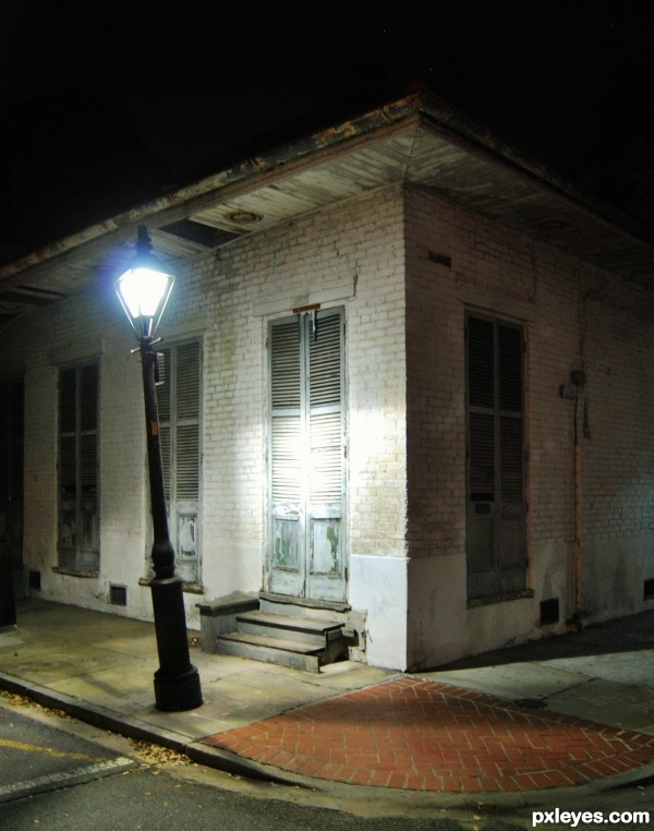 A lit walk home in New Orleans