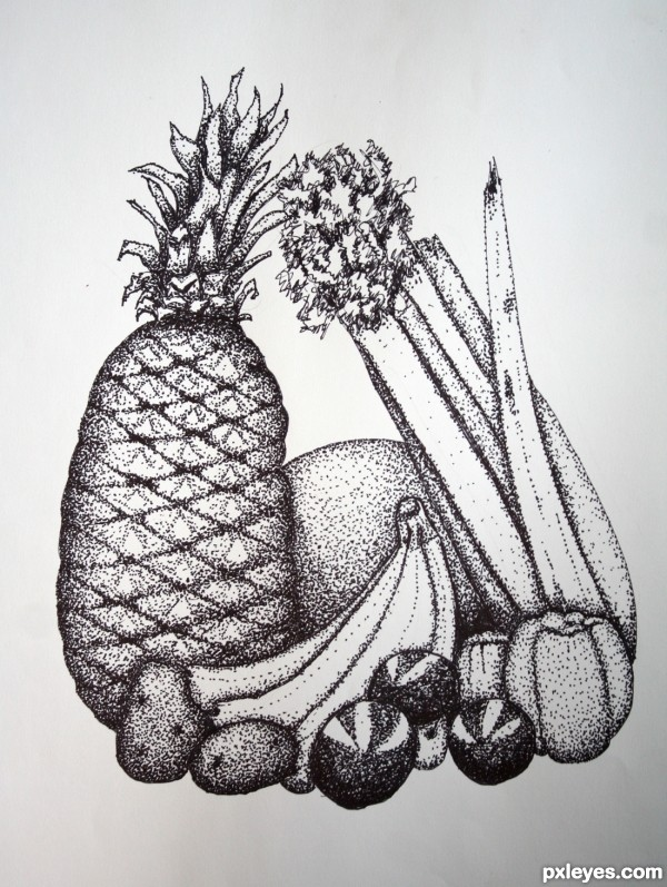 Line Drawing Still Life : Line work drawing contest pictures page