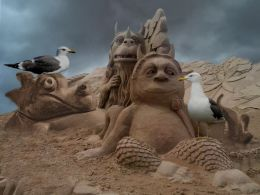 Sand Sculptures and Seagulls