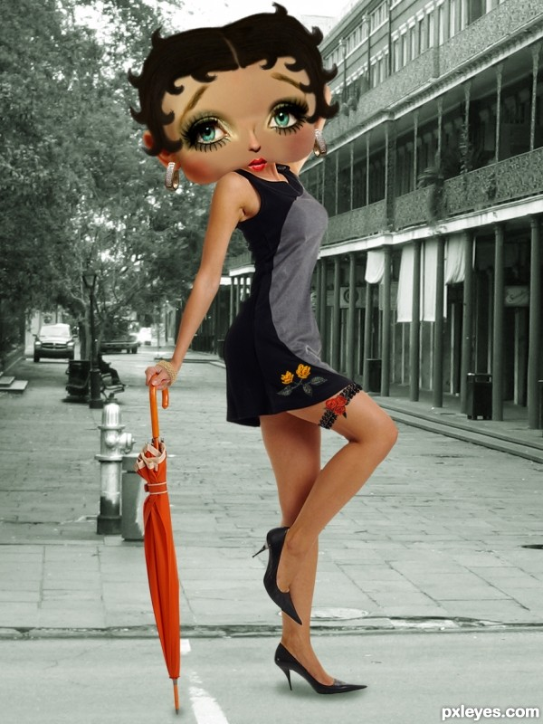 Betty Boop photoshop picture