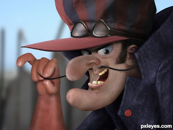 Dick Dastardly photoshop picture
