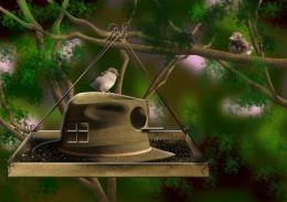 A Hat Bird House