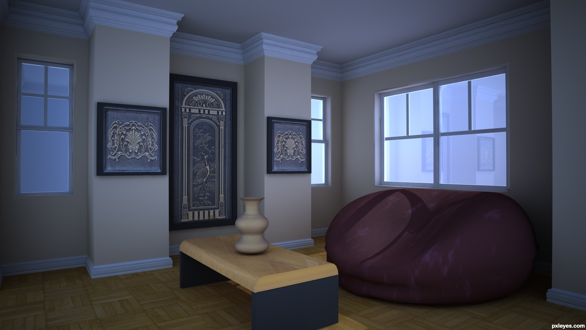 Cozy and elegant living room picture by preonline for - Cozy elegant living rooms ...