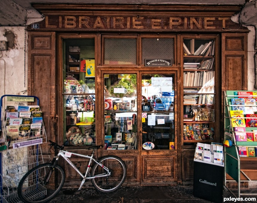 Th Bookshop photoshop picture)