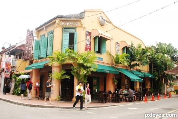 local restaurant at melaka