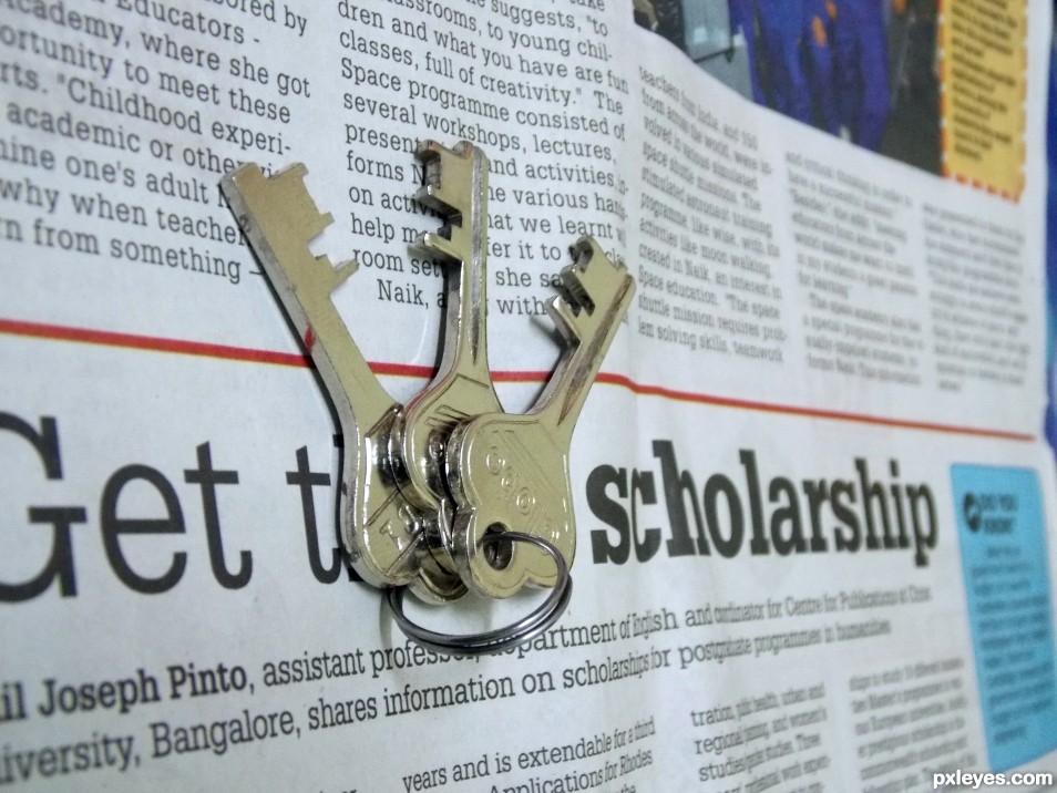 Newspaper & Key