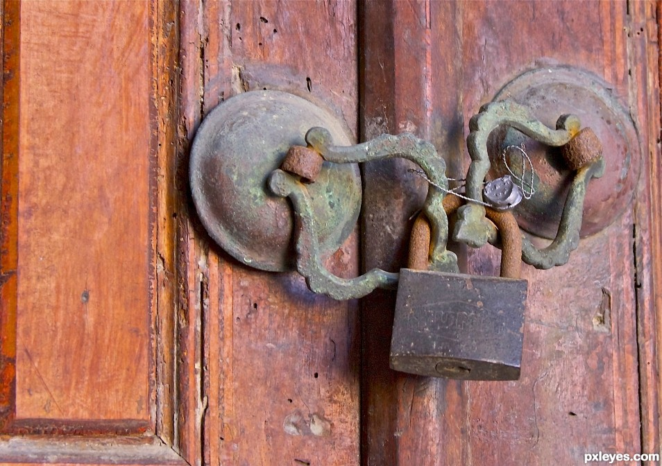 Old locked lock