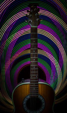 Light Painted Guitar