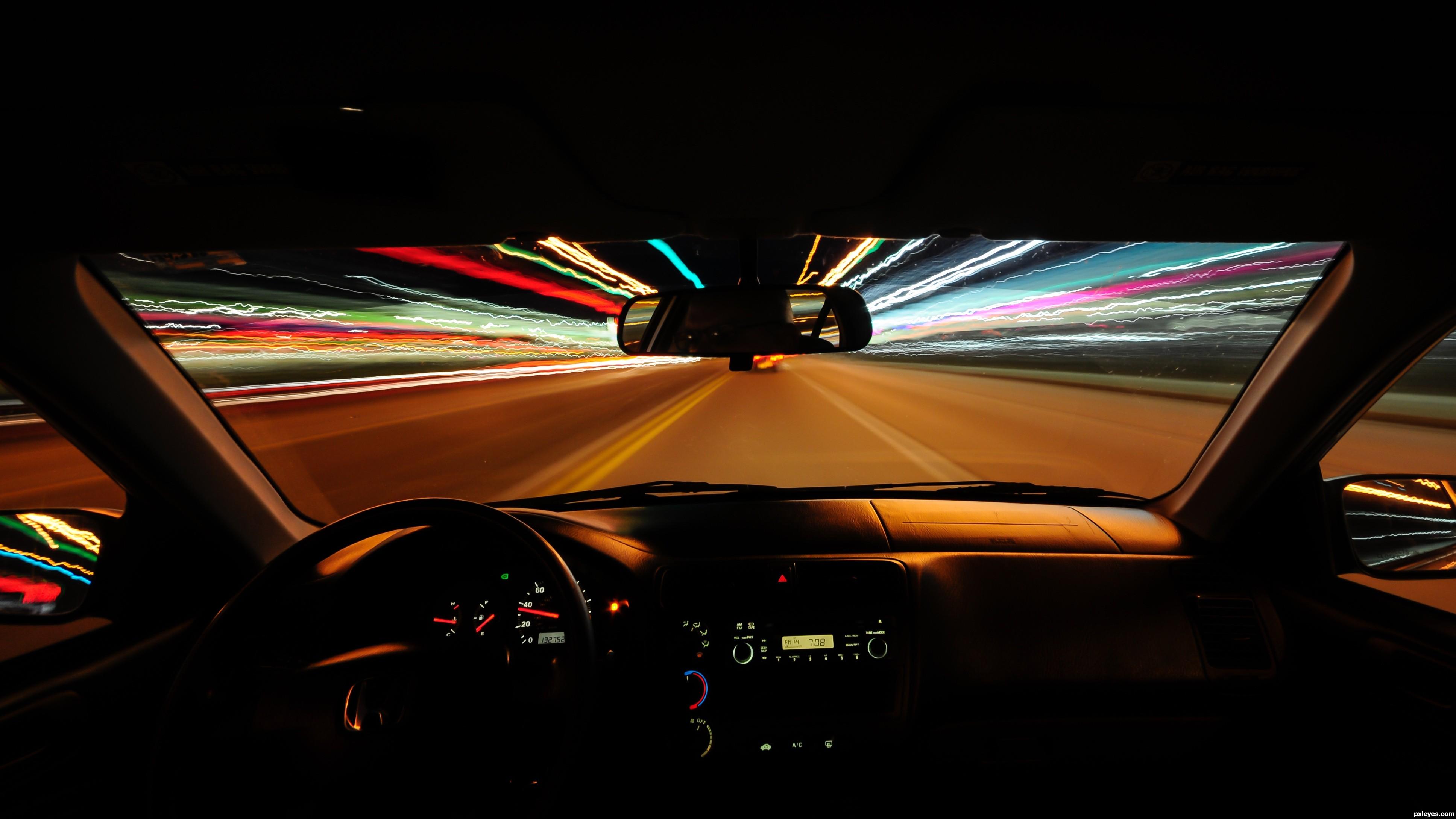 Night drive picture by bjschneider for long exposure night night drive stopboris Gallery