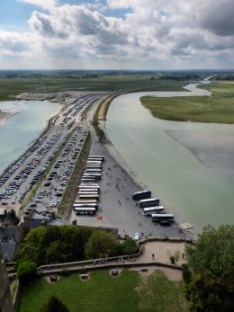 View from the top of Mont-Saint-Michel