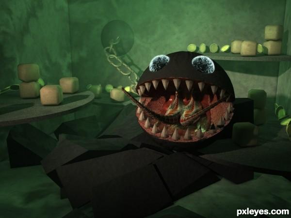 3D Guide - The Making Of Monster Chain Chomp Boss