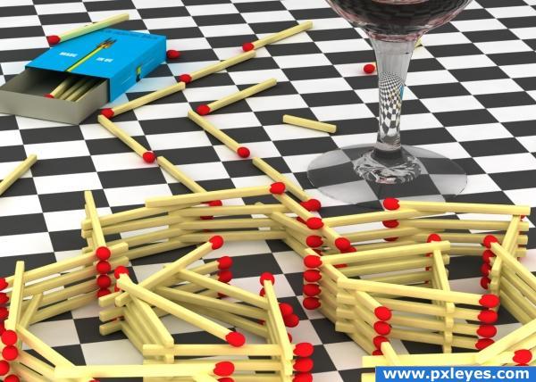 Drink, spleen, matches, mazes