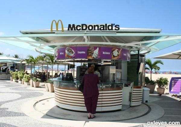 McDonalds on Copacabana Beach