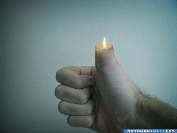 Candle finger