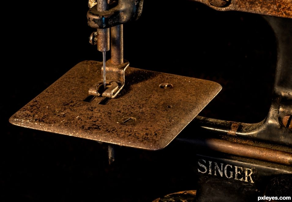 Antique toy sewing machine
