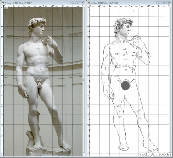 drawing guide the making of david von michelangelo. Black Bedroom Furniture Sets. Home Design Ideas