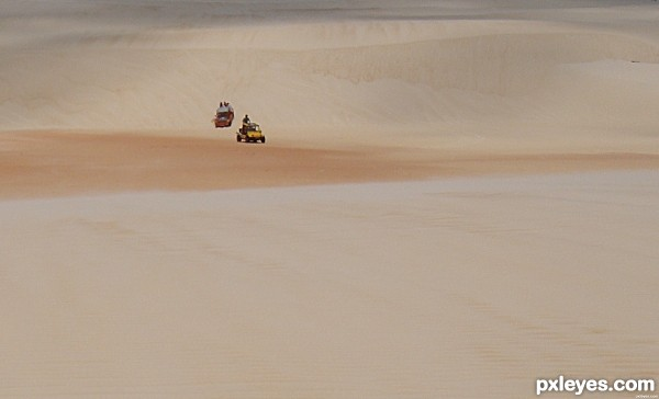 CARS IN DESERT