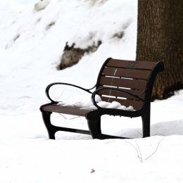 SnowCoveredBench