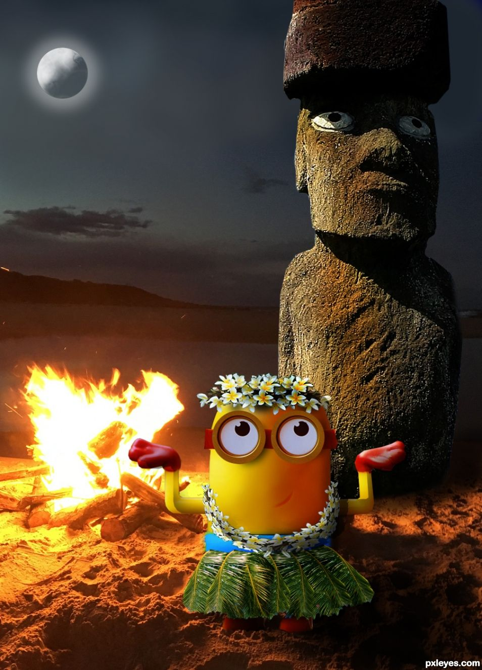 Minion Moon Dance By The Molokai