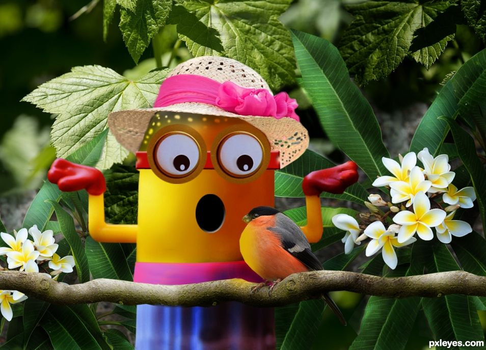Mrs Minion Day Out In The Garden