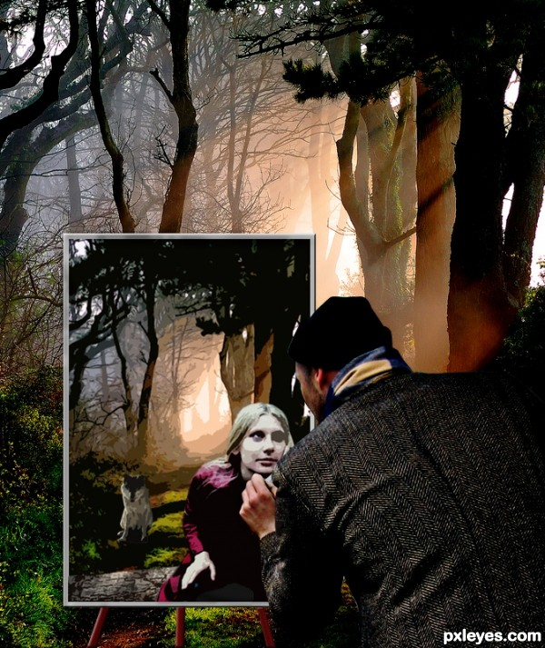 painter forest