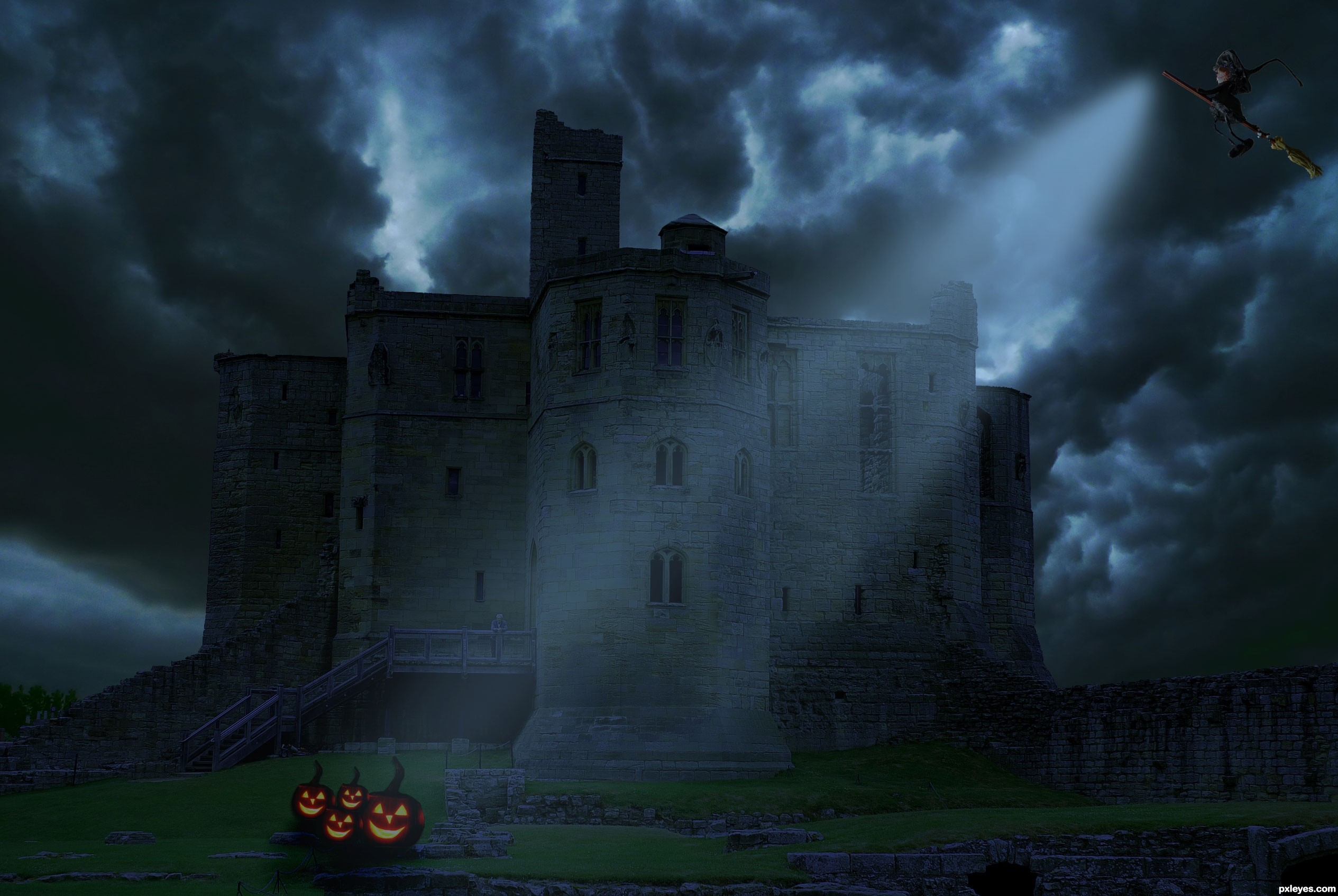 The Castle At Night Picture By Nishagandhi For Mixed Manipulations
