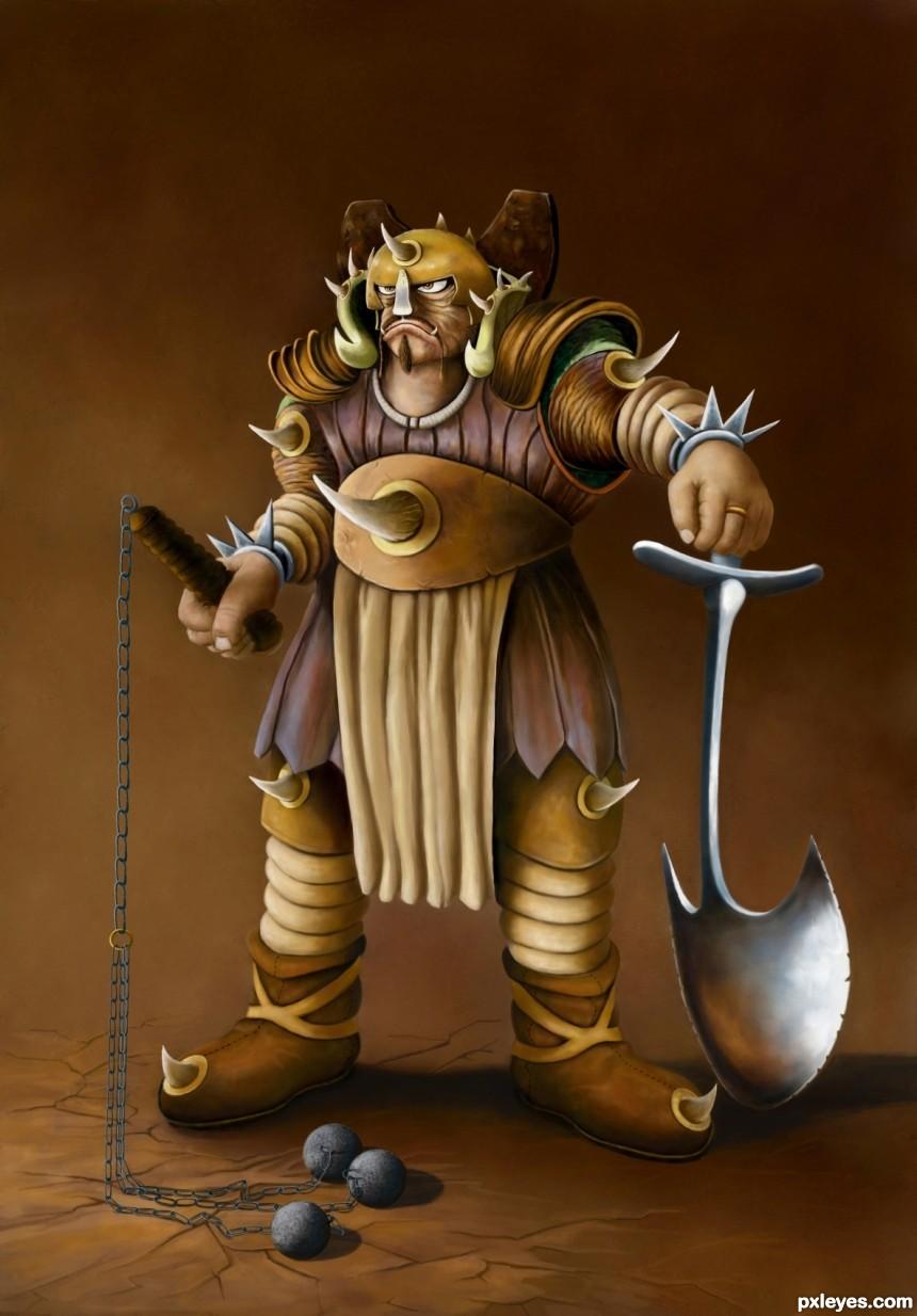 Grundg Warrior photoshop picture)