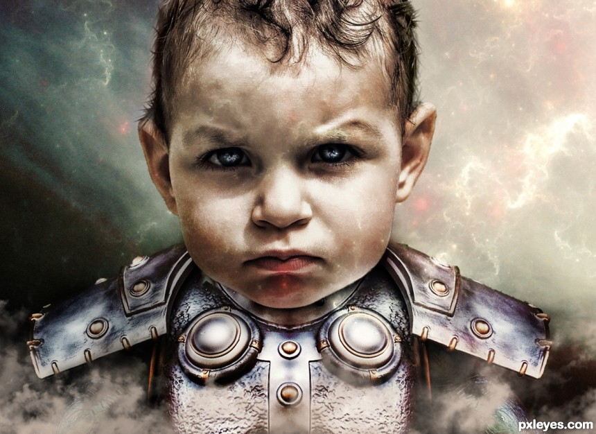 Baby Space Ranger photoshop picture)
