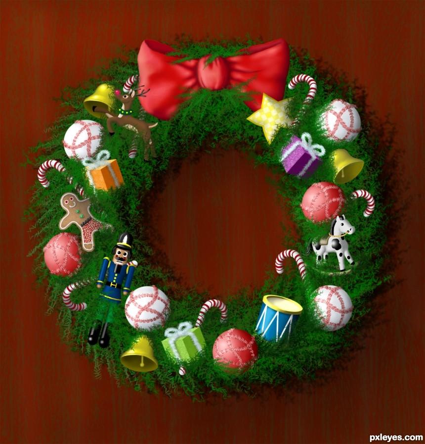 Festive Wreath photoshop picture)