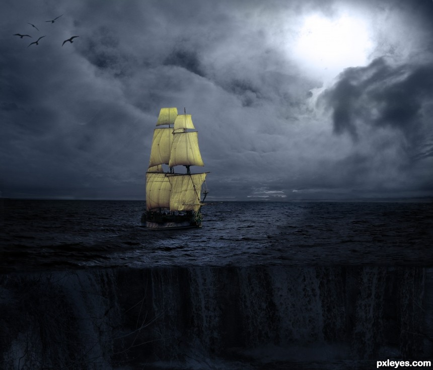sailing photoshop picture)
