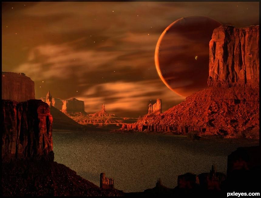 Tangerine Twilight  photoshop picture)