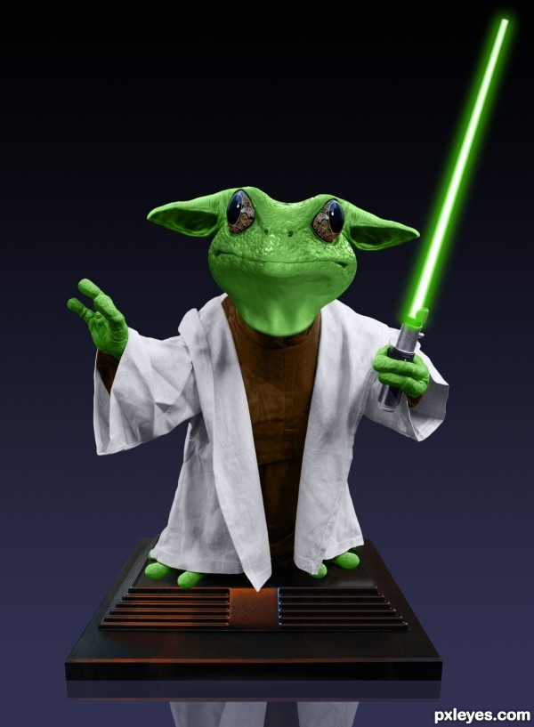 Kermit as Yoda