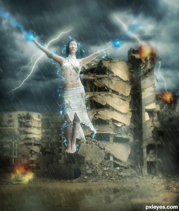 Weather Goddess photoshop picture)