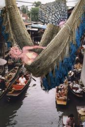 Mermaid at the floating market Picture