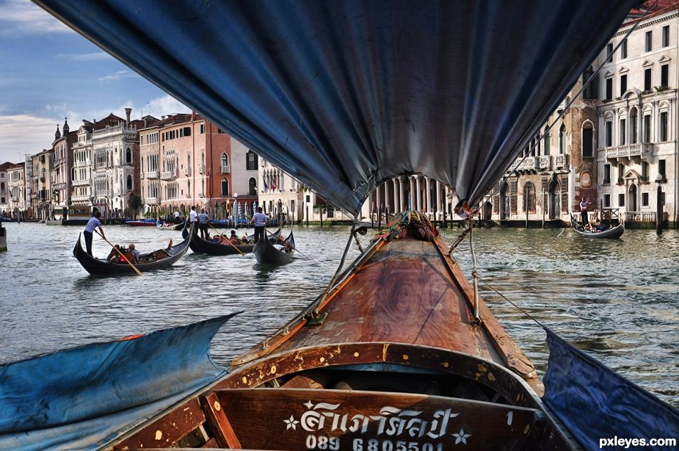 From  Bangkok Chao Phraya to Venice Grand Canal Tranzit  :-)