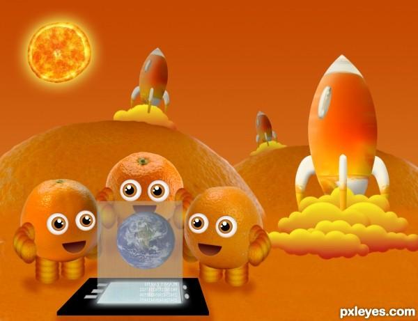 Orange invasion