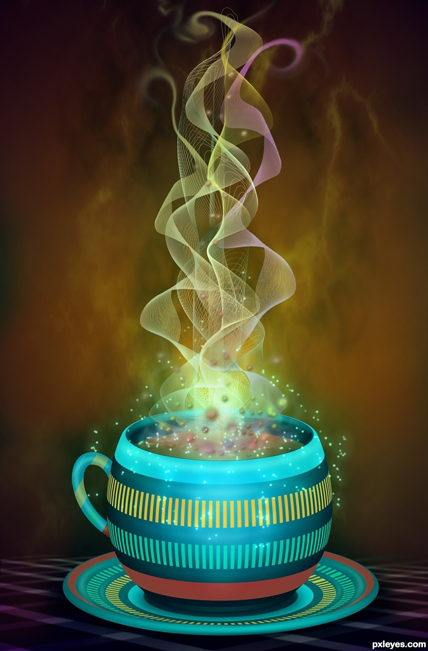 Cup of Magic photoshop picture)