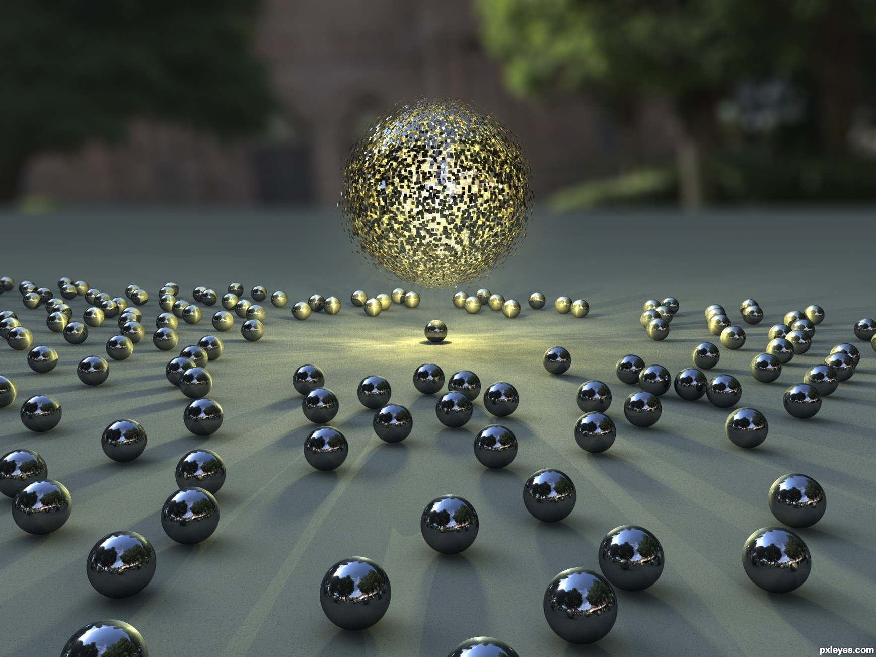 Attractive Spheres Picture By Ory For Mixed 3d Contest