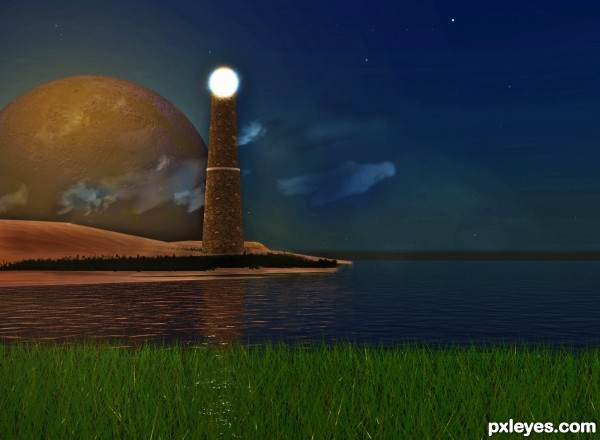 Beacon at Moon Set Point