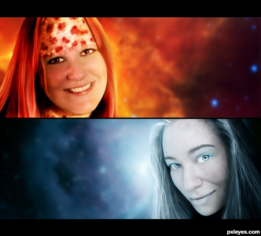 Space Chronicles: Fire and Ice photoshop picture)