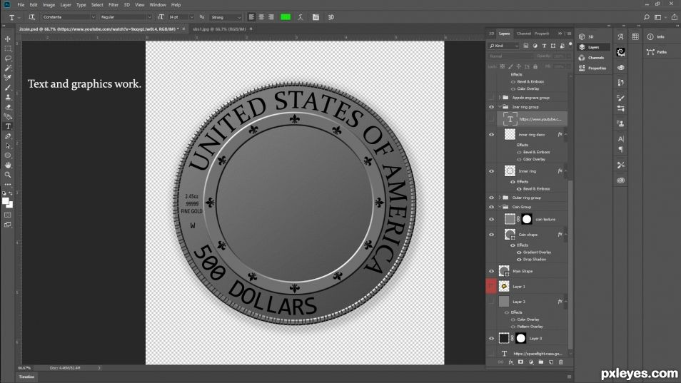 Creation of Apollo 13 Fifty Year Commemorative Coin : Step 2