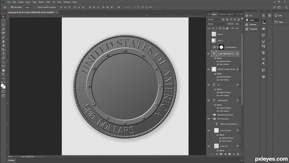 Creation of Apollo 13 Fifty Year Commemorative Coin : Step 3