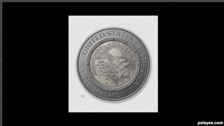 Creation of Apollo 13 Fifty Year Commemorative Coin : Step 4