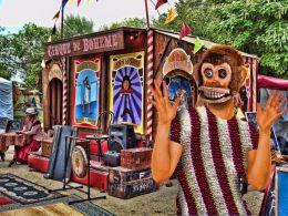 Monkey Girl at the Circus