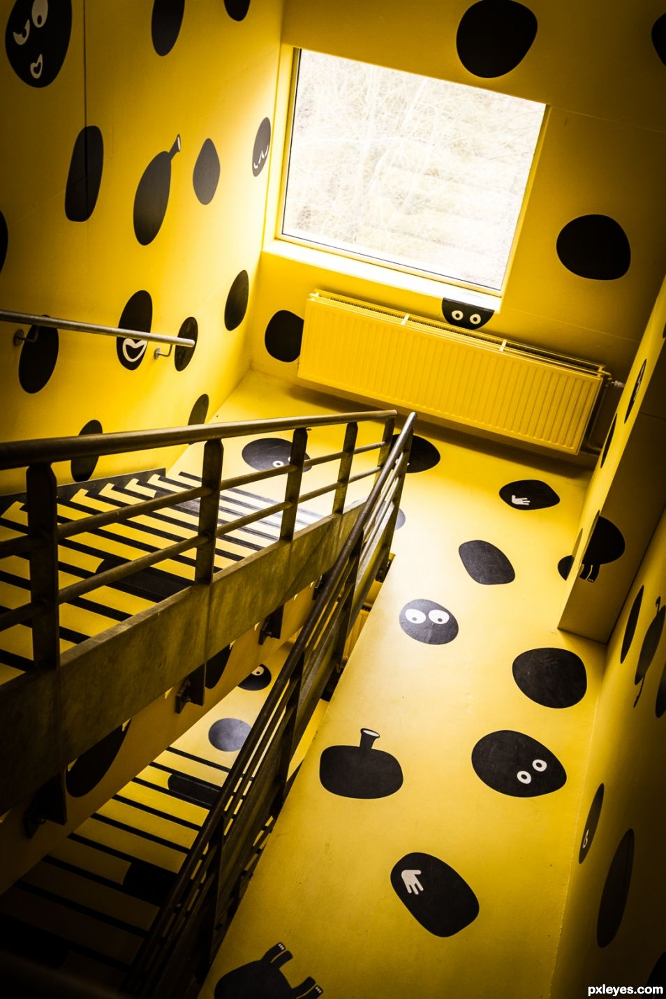 The yellow stairway