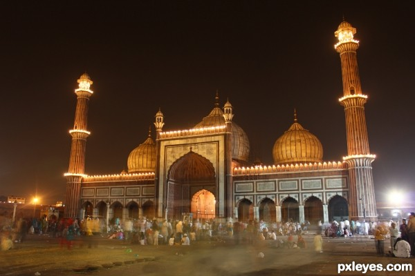 Masjid in night